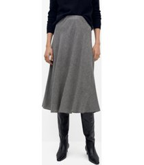 mango women's textured printed skirt