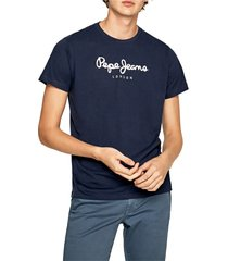 camiseta azul navy-blanco pepe jeans