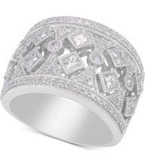 diamond filigree wide band statement ring (1-1/4 ct. t.w.)