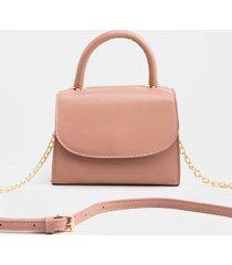 jaycee mini satchel - dark rose