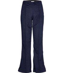 drapy corduroy pirla broek met wijde pijpen blauw mads nørgaard