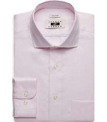 joseph abboud pink textured dress shirt