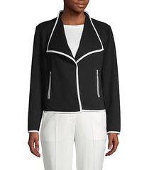 classic notch-collar blazer