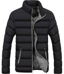 chaqueta algodon hombre invierno acolchada 1921 negro gris