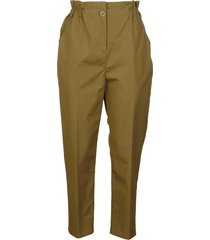 aspesi fitted waist buttoned trousers