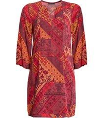 bcbgmaxazria patchwork-print shift dress