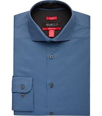 awearness kenneth cole awear-tech navy dot slim fit dress shirt