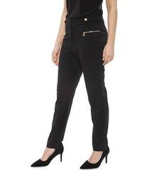 pantalón calvin klein silver hardware negro - calce regular