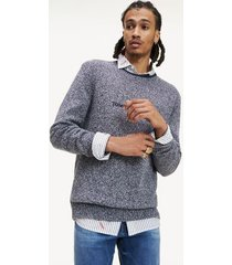 tommy hilfiger men's combed cotton sweater black iris - s