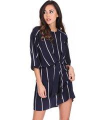 ax paris striped tie waist mini dress