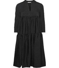 hariet jurk knielengte zwart rabens sal r