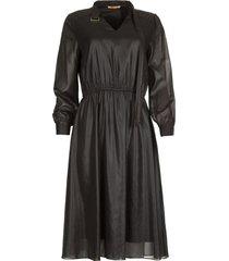 glanzende jurk bess  zwart