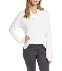 women's loveappella cowl french terry pullover, size x-large - ivory