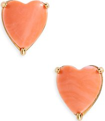 lele sadoughi ashford heart stud earrings in coral at nordstrom