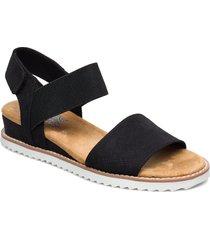 womens bobs - desert kiss shoes summer shoes flat sandals svart skechers