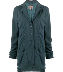 romeo gigli pre-owned 1997 buttoned relaxed jacket - green
