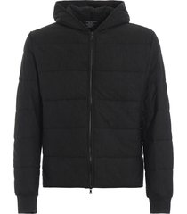 majestic filatures charcoal slightly padded hooded sweat jacket