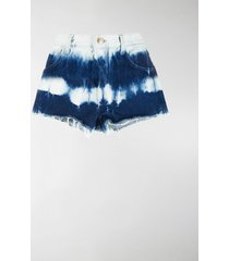 alanui denim tie dye shorts