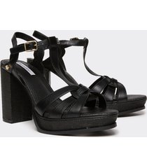 motivi sandali con plateau donna nero