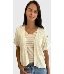 cardigan vero moda crudo - calce regular