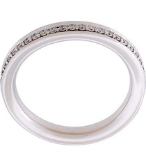 alinka 'tania' thumb ring diamond full surround - metallic
