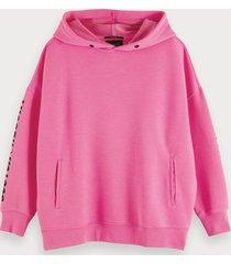 scotch & soda roze oversized hoodie