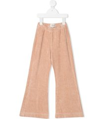 longlivethequeen velour trousers - neutrals