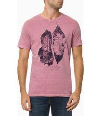 camiseta masculina estampa folha rosa calvin klein jeans - gg