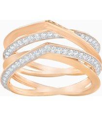 anello genius, bianco, placcato oro rosa