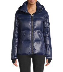 s13 women's quilted down puffer jacket - jet - size xl