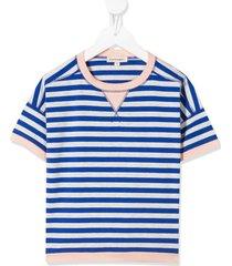 caramel balham striped t-shirt - blue
