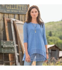 alchemy knit tunic, lightweight knit over a silky camisole