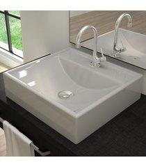 cuba para banheiro quadrada cinza q39 - compace