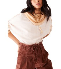 women's free people ricky slouch hoodie, size x-large - brown