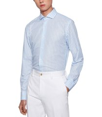 boss men's striped slim-fit shirt