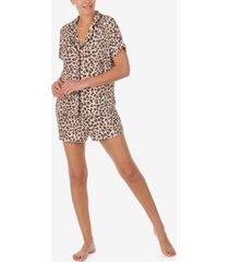 dkny printed knit boxer shorts pajama set