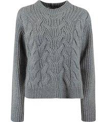 helmut lang cable crewneck sweater