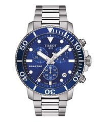 men's tissot seastar 1000 chronograph bracelet watch, 45.5mm