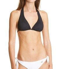 women's dolce & gabbana halter bikini top, size 4 - black