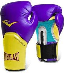 luva boxe elite pro style roxo/amarelo everlast - 12oz