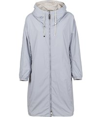 light blue technical fabric coat