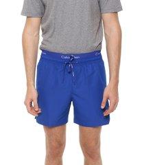 traje de baño azul calvin klein double waistband