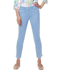 women's nydj alina pull-on ankle jeans, size 14 - blue