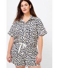 loft loft plus leopard print pajama shorts