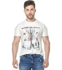camiseta osmoze 35 dupla face 110112802 branco pp - masculino