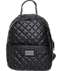 ermanno scervino ermanno scervino quilted backpack black