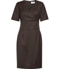 delaiah knälång klänning brun boss