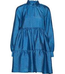 jasmine, 784 textured poly korte jurk blauw stine goya