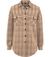 giacca camicia con bottoni (marrone) - bodyflirt