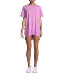 electric & rose women's catalina t-shirt dress - peony - size xs